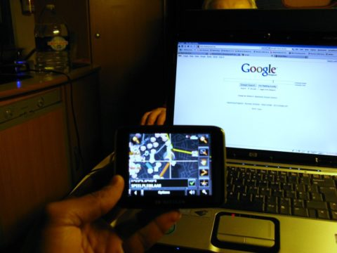 RV nomads use RV satellite, Google, and apps to plan seasons RV travel routes.