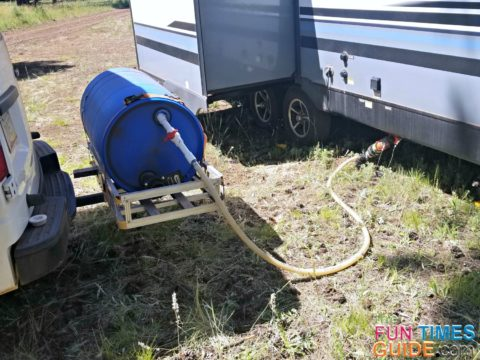 RV Macerator Pump + RV Portable Waste Tank