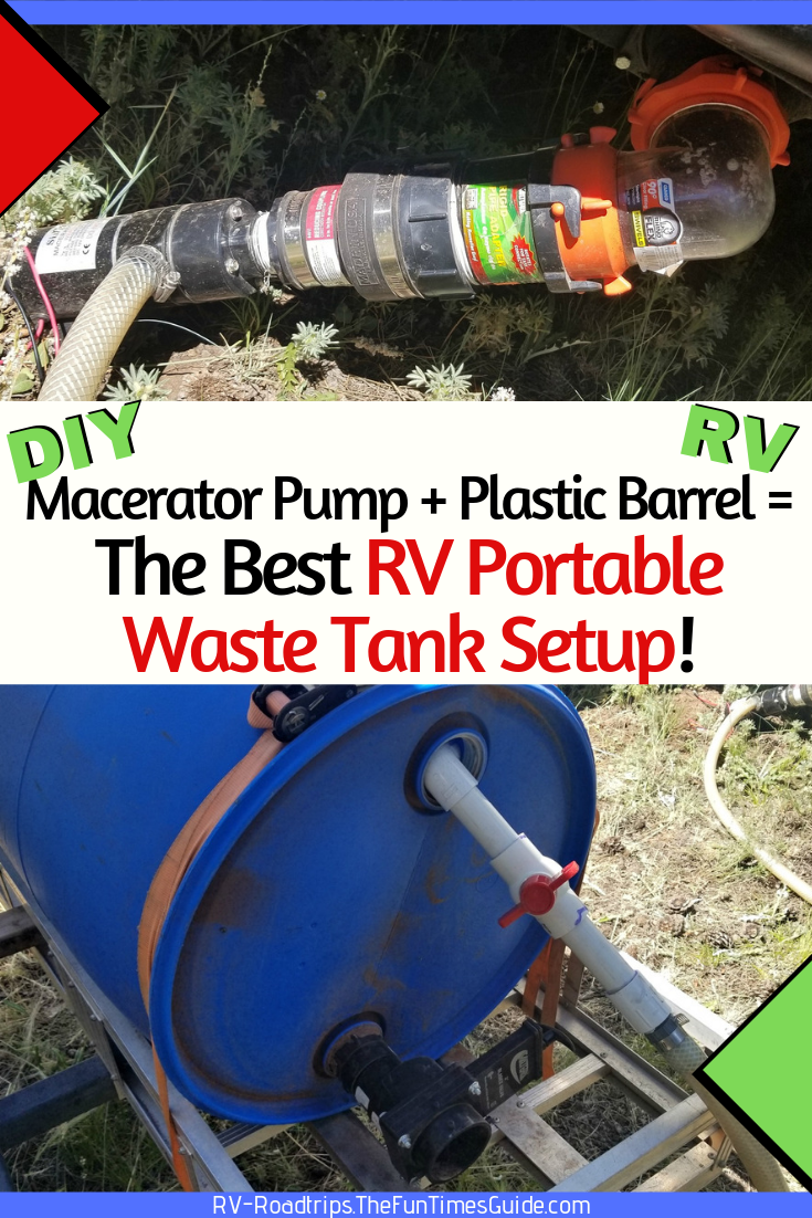 The Easiest Way To Deal With RV Waste: Use An RV Macerator Pump + An RV Portable Waste Tank!