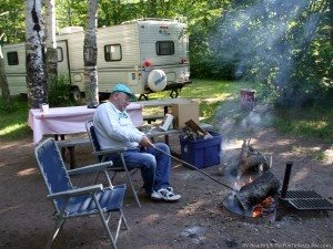 Camping at Garfvert Campground in the Nemadji State Forest - Minnesota. photo by Curtis at TheFunTimesGuide.com