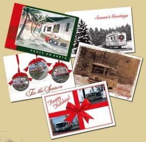Camping Christmas Cards.A Fun Way For Rvers To Personalize Holiday Cards With Photos