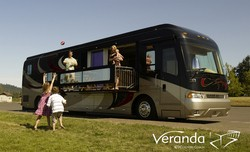 Country Coach's New Veranda Coach Has A Slideout Balcony