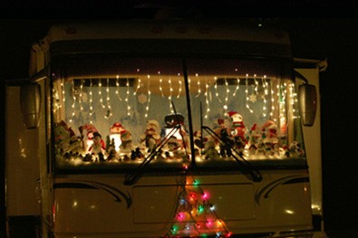decorating the rv for christmasjpg
