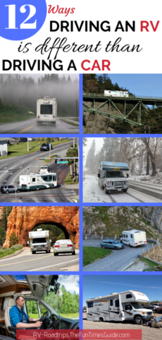 12 ways driving an RV is different than driving a car.