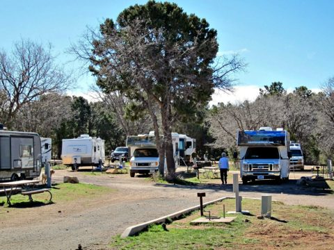 Campground in the South Rim at Grand Canyon National Park.