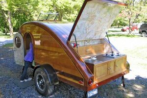 Give Up Tenting In The Rain – Build An RV Teardrop Trailer From Plans