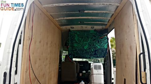 DIY wall paneling helps with soundproofing your cargo van.