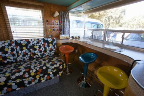 This is a comfy cozy fun way to remodel and decorate an RV!