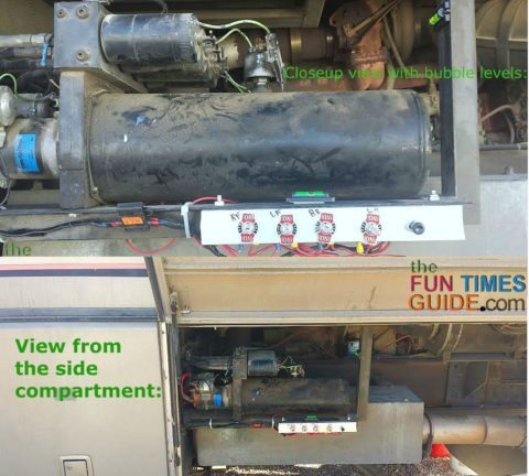 rv hydraulic leveling system with manual switches