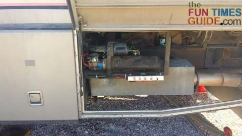rv side compartment - hwh rv leveling jacks system