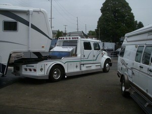 improve your safety on the road by towing with a larger rv. Black Bedroom Furniture Sets. Home Design Ideas