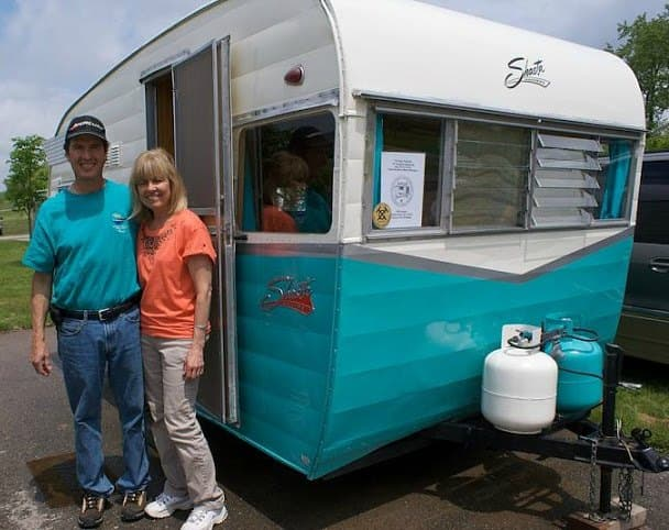 This is a good example of a modern retro RV camper.