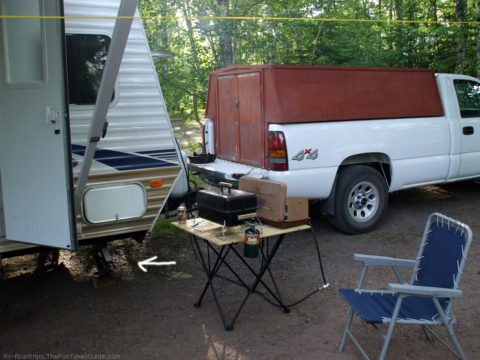 This is my RV with RV stabilizer jacks underneath.