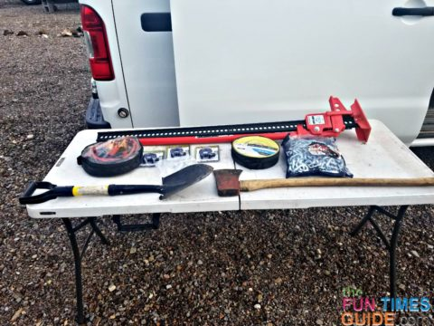 These are some of my RV self-rescue tools that I always have on board.