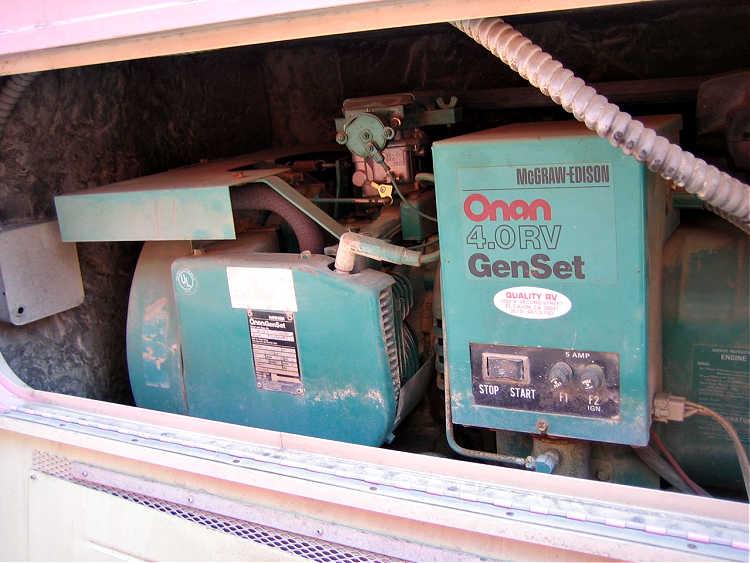 RV generator inside a motorhome.