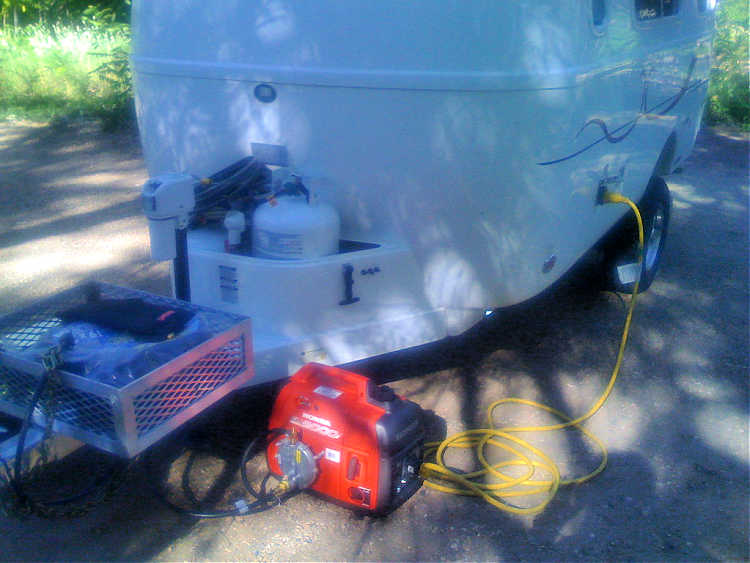 This is an example of a portable RV generator.