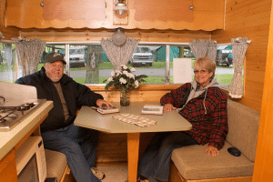 RVers sitting in their newly remodeled RV. photo by by terrybone on Flickr