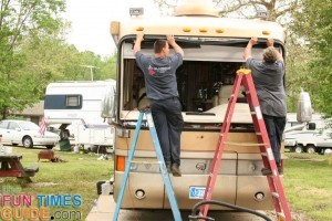 replacing-motorhome-windshield-seal