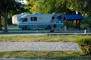One of the RV camping spots at Rolling Hills Camping Resort in Taylorsville, KY. photo by Lynnette at TheFunTimesGuide.com