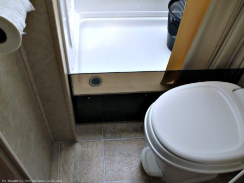 RV toilets and plastic plumbing parts are RV components that get brittle and crack over time.