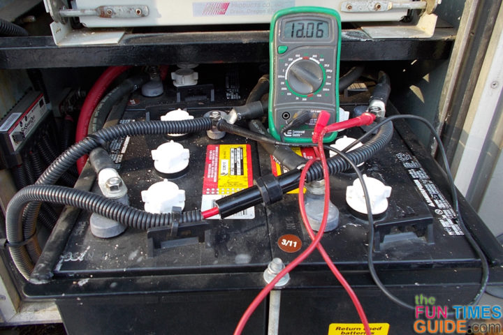 rv batteries alternators the easiest way to check your rv rv battery multimeter