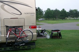 Need A New RV Bike, Carrier, or RV Bicycle Rack? How About An RV Motorcycle Lift?