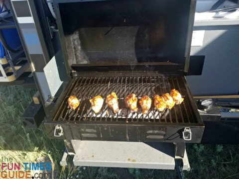 Grilled chicken is a breeze with the right RV camping cooking equipment.