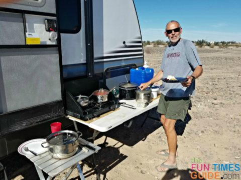 See all of the RV camping cooking equipment that I use regularly