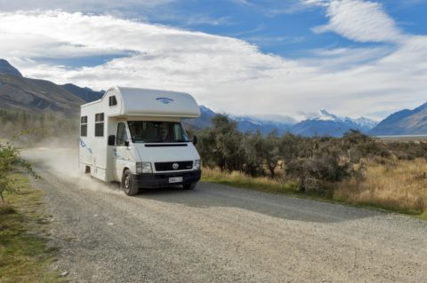 When driving an RV on gravel roads... the bigger the RV, the farther the rocks will fly with more velocity.