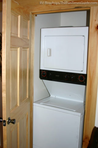 Lightweight RV With Bunkhouse A Stackable WasherDryer