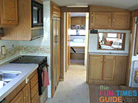RV refrigerator wood panel doors