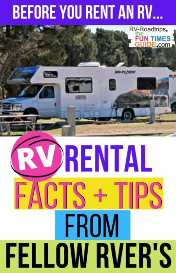 RV rental facts and tips from fellow RVers!