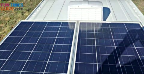 This is an RV Solar Kit installed on the roof of my RV.