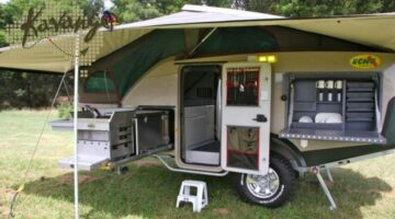 All-Terrain Camping With A 4×4 Vehicle And An Off-Road Survival Trailer