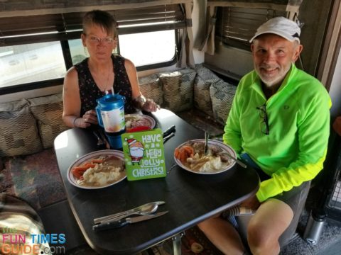 One of the many holiday feasts that I've prepared and cooked in my RV.