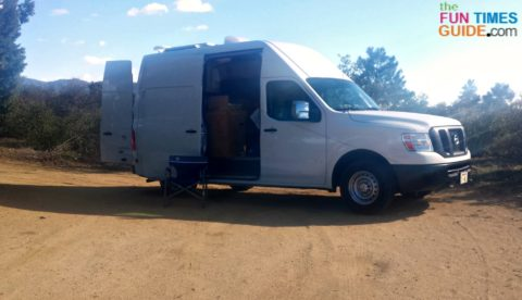 My Nissan NV 3500 RV van. I started by installing items on the roof first. Here's how...