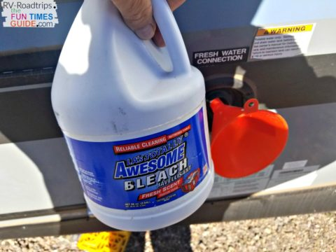 You need to disinfect the RV's entire water system by simply using household bleach and water. Here's how to do it...