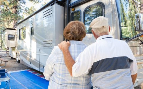A senior couple prepares to make their exit from full-time RV living.