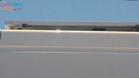 A side view of the solar panels on my RV van roof.