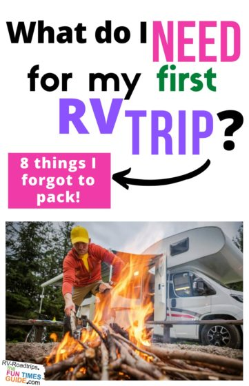 Must have RV supplies and accessories for your first RV trip!