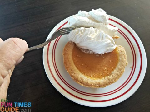 Whipped topping is required for all RV Thanksgiving pies!