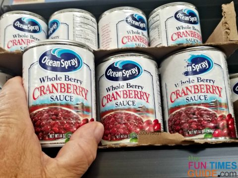 Make sure to buy cranberry sauce that has whole berries!