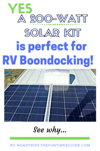 See why a 200-watt RV solar kit is perfect for boondocking!