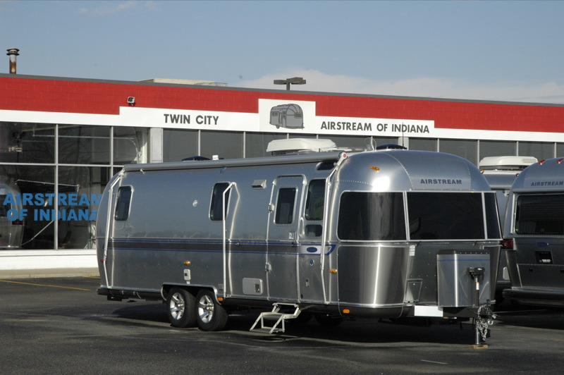 Airstream trailers on the dealer's lot at Airstream of Indiana. photo ...