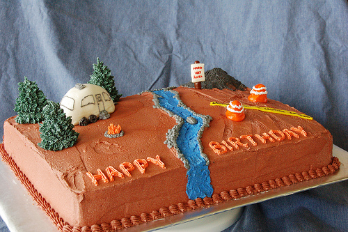 Camping Birthday Cake Photo By Samdogs On Flickr
