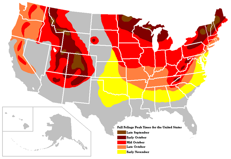 Pics Photos  Fall Foliage Map Showing When The Fall