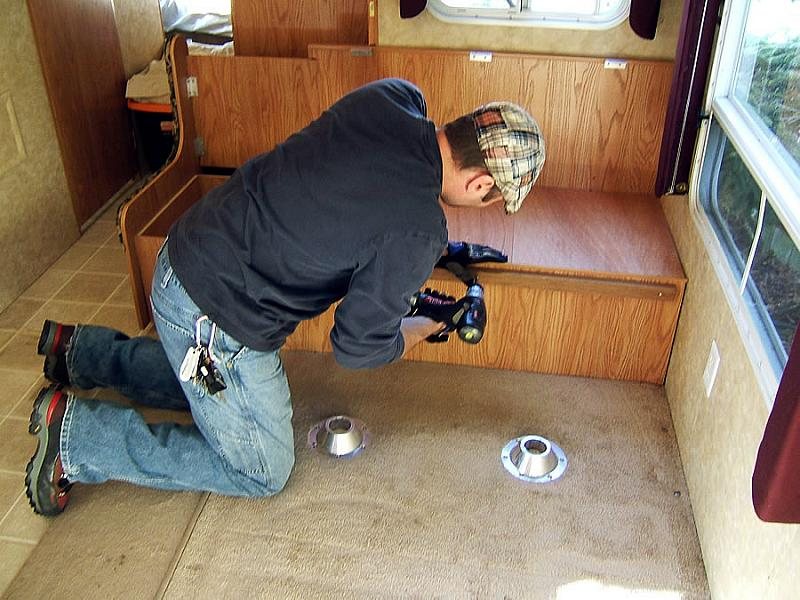Give Your Old RV A Facelift Replace The Furniture