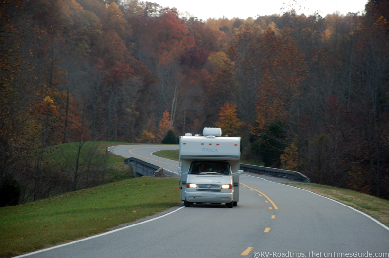 Roadtrip in an rv cer