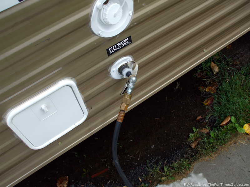 Propane hook up for rv