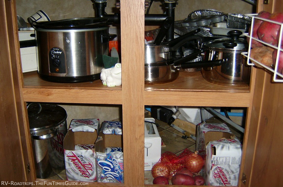 Rv kitchen storage image search results for Camper kitchen cabinets